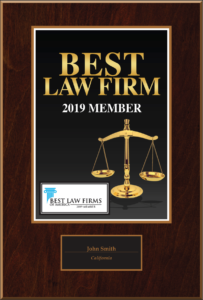 Best Law Firm 2019 Member Plaque