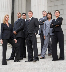 Law Firm Attorneys at Courthouse